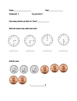 FREEBIE – 1st Grade Math. This would be perfect for my weekly formative assessme