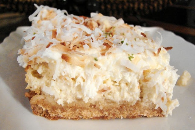 Lime Cheesecake Squares Recipe — Dishmaps
