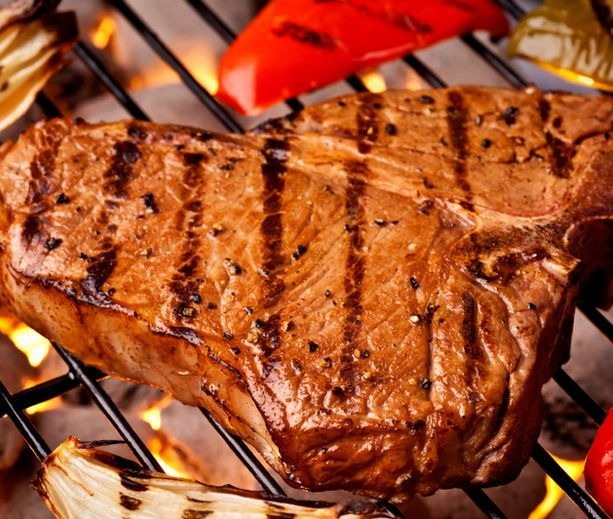 Grilled T-Bone Steaks with BBQ Rub | T-Bone & Rib Eye Steak | Pintere ...