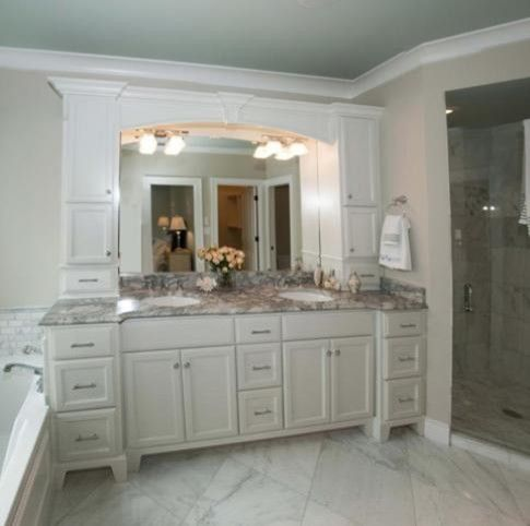 90 vanity dream home pinterest for Bathroom cabinets 90