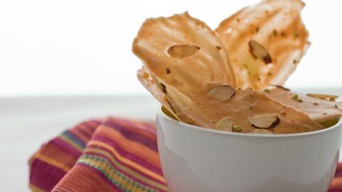 pistachio-almond tuiles | a spoon to measure - sweet | Pinterest