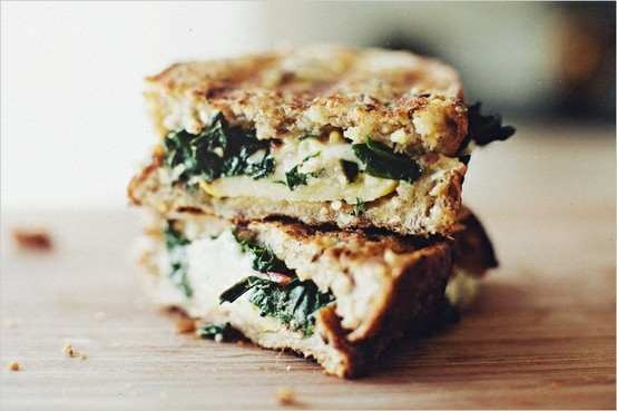 SAUTEED CHARD AND GRUYERE GRILLED CHEESE FROM SPROUTED KITCHEN