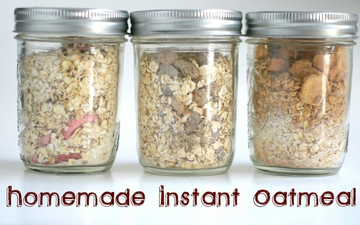 Homemade instant oatmeal, to go | 4me | Pinterest