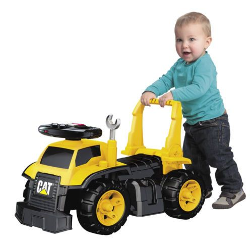 Construction Riding Toys For Boys : Cat ride on truck push digger tools construction vehicle