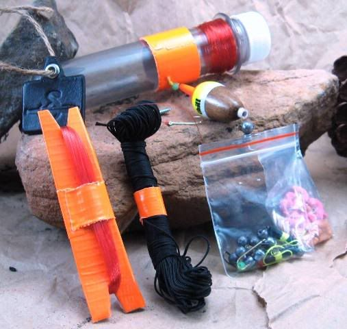 Survival fishing kit reel catfishing pinterest for Survival fishing kit
