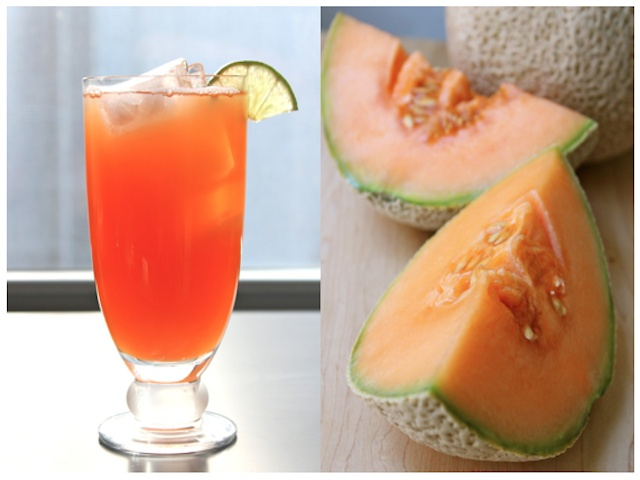 Cantaloupe agaus frescas. I use the Klass drink mix in cool weather ...