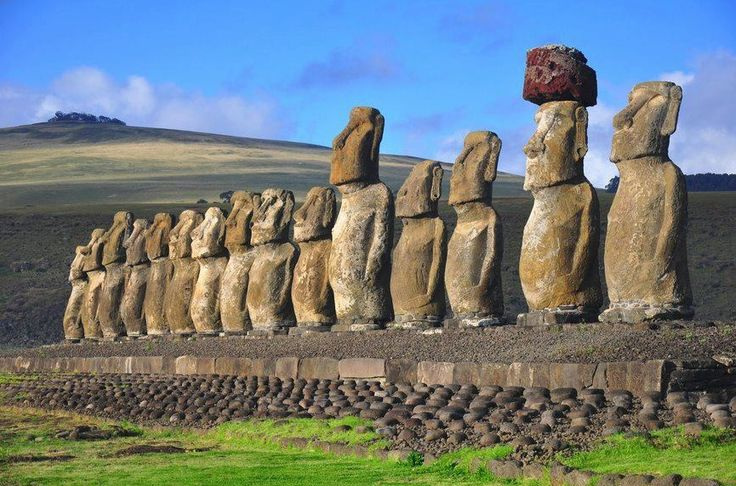 Moai at Tongariki, Easter Island.