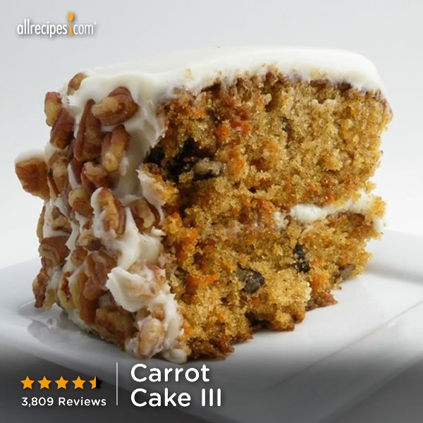 Allrecipes Recipe  Carrot Cake Iii