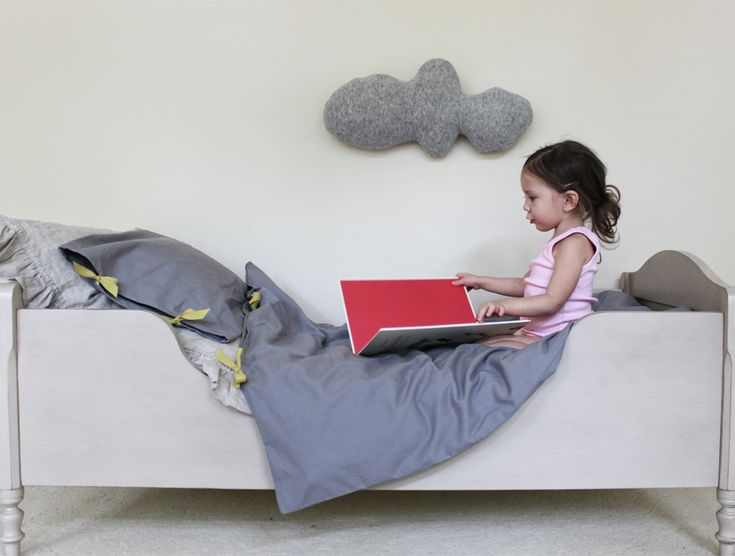 CLOUD shaped pillow - grey.  via Etsy.