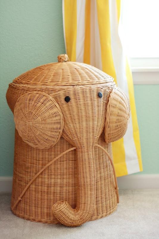 Elephant clothes hamper playeveryday baby room ideas pinterest - Elephant laundry hamper ...