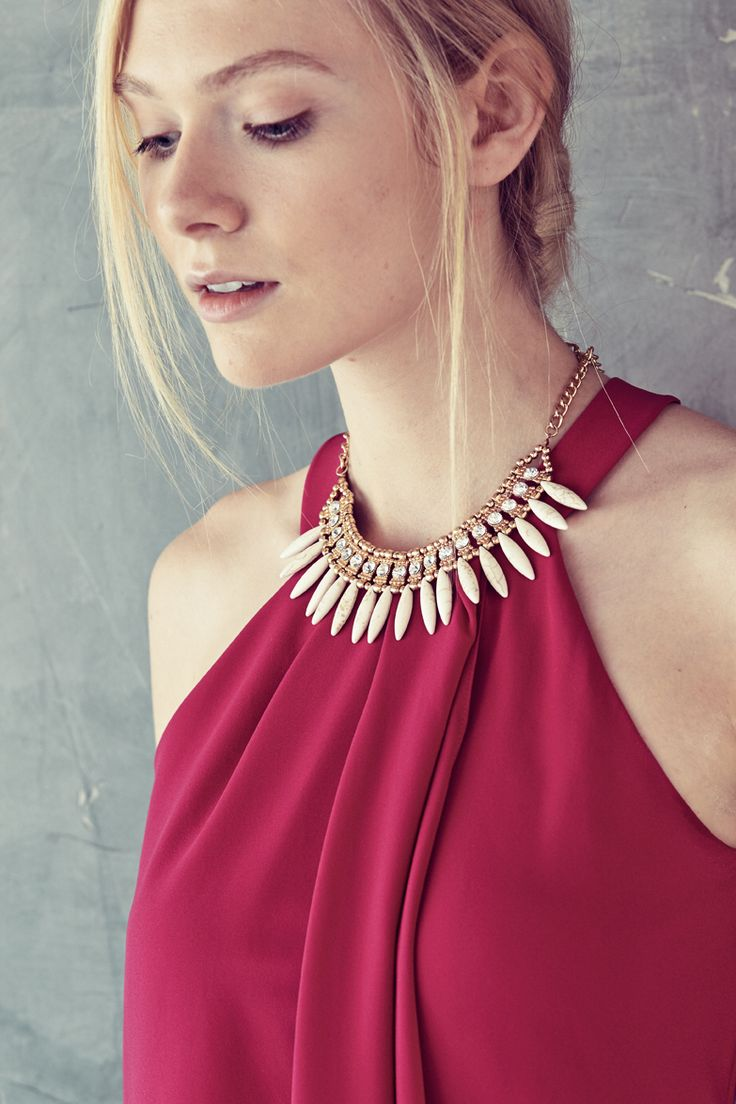 The dance floor requires a statement necklace.