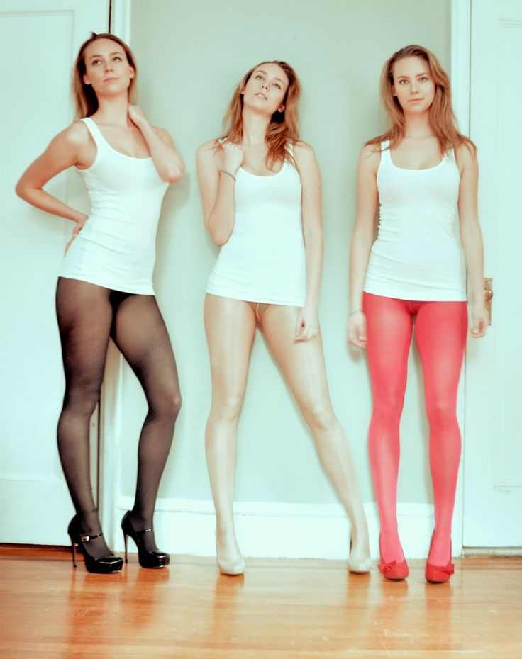 A piping hot pantyhose group