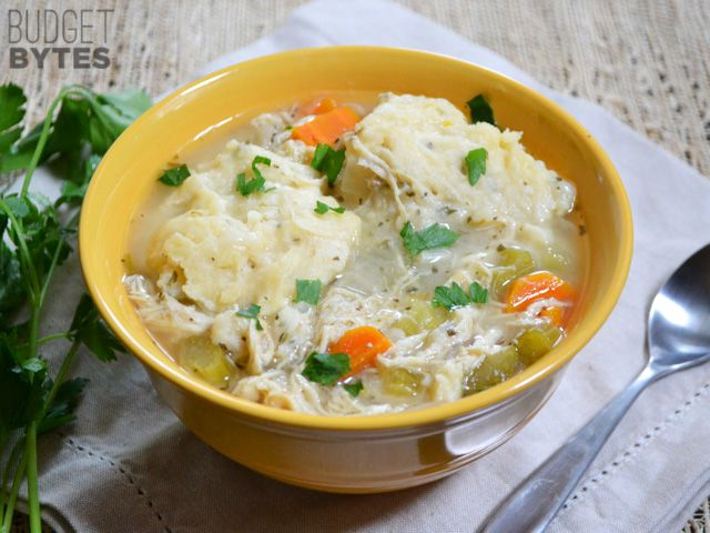 Slow Cooker Chicken and Dumplings ($5.87 recipe / $0.98 serving)