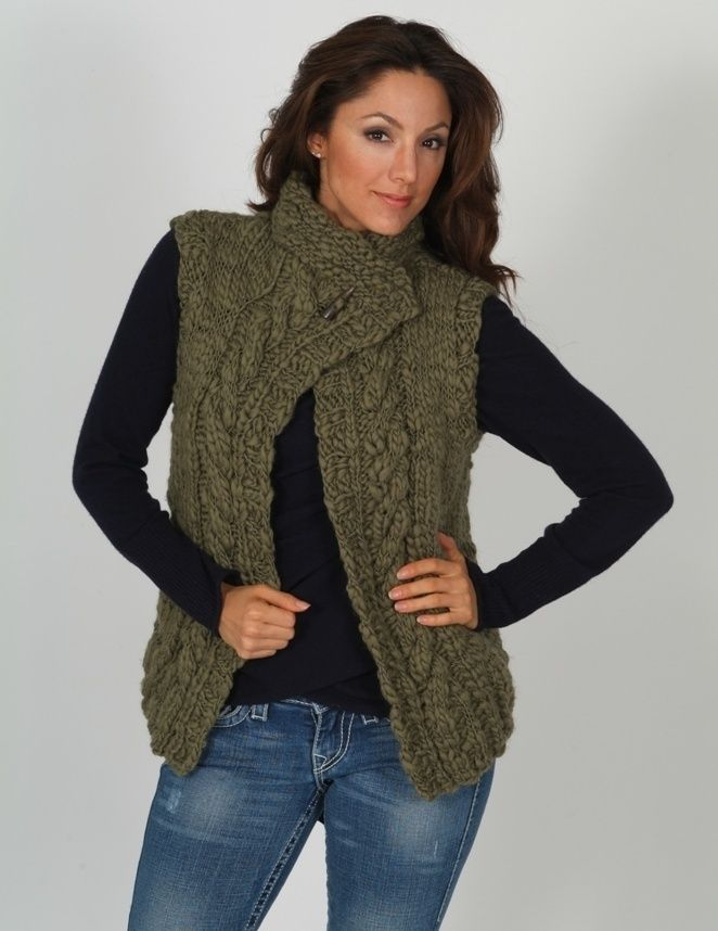 Knitting Pattern Vest Bulky Yarn : Pin by Clairellen McLaughlin on Knitting Pinterest