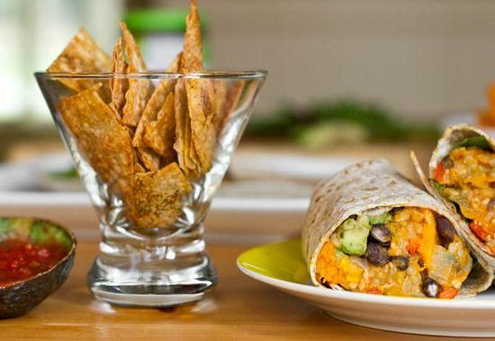 Black Bean and Butternut Squash Burritos - #ohsheglows - love this ...