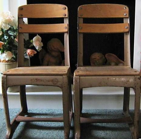 good questions how to refinish vintage school chairs