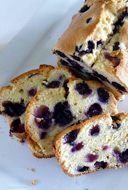 Blueberry Sour Cream Pound Cake | Favorite Recipes | Pinterest