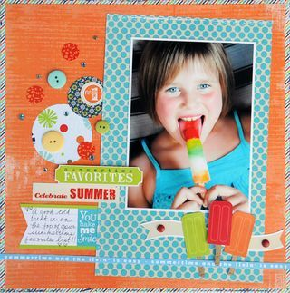 a happy, bright summer layout!
