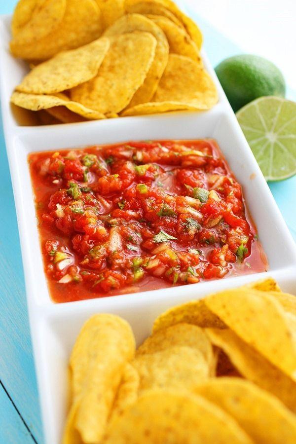 Restaurant Style Salsa | appetizers + sides | Pinterest