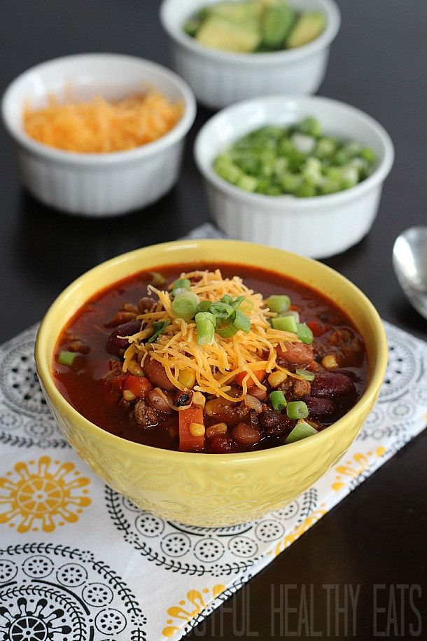 Three Bean & Beef Crock Pot Chili | Recipe