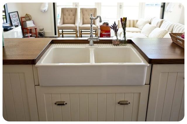 Undermount Sink Ikea : Sort-of undermounted Ikea apron sink living Pinterest