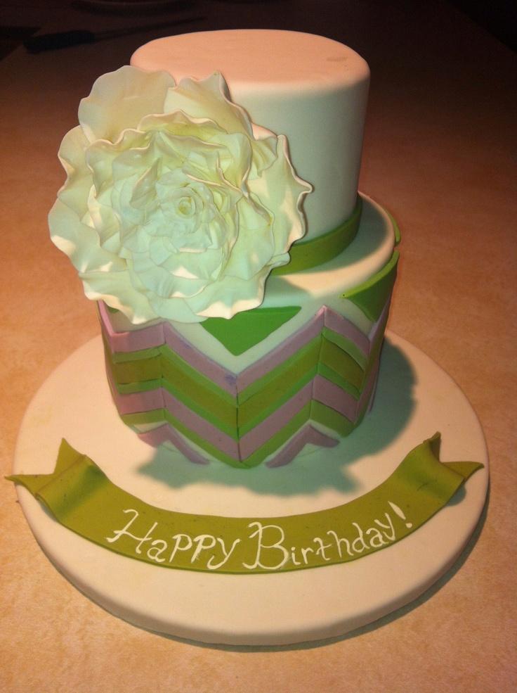 Chevron Pattern Cakes