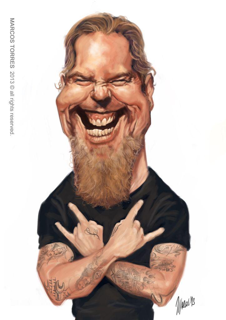 James hetfield caricatures pinterest