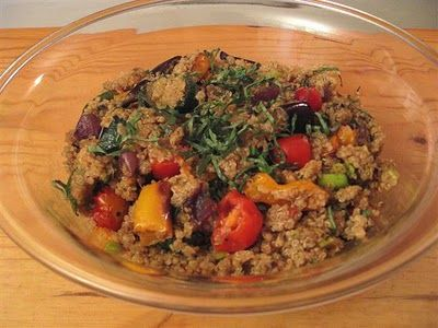and herbs (The Foodie Physician). Ingredients: eggplant, zucchini ...