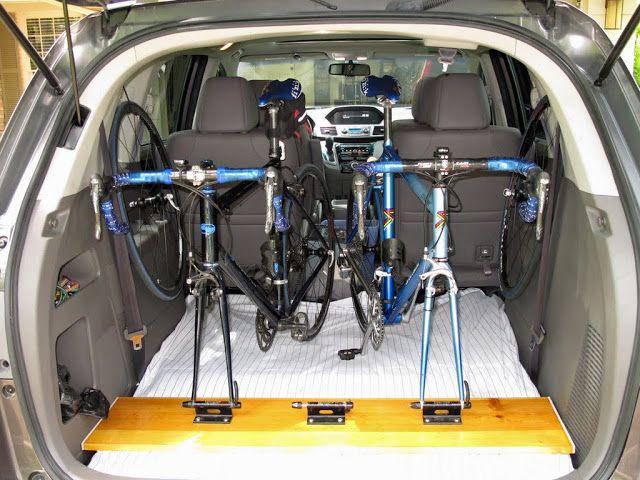 suv bike rack for inside the car diy pinterest. Black Bedroom Furniture Sets. Home Design Ideas
