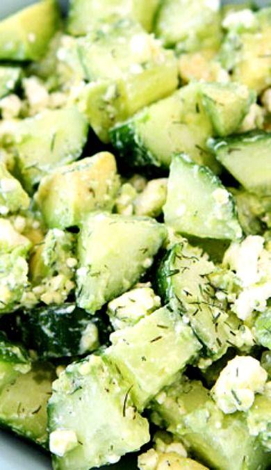 Cucumber, Avocado, and Feta Salad | Recipe