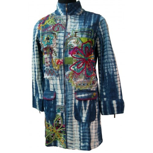Embroidered ladies denim jacket what to wear pinterest
