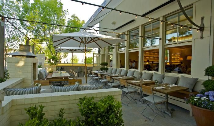 outdoor patio a napa valley architect designs himself a restaurant