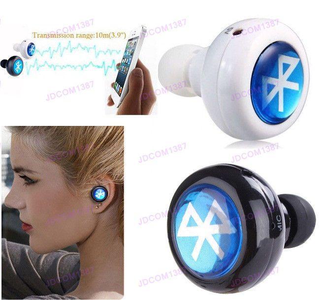 mini bluetooth wireless in ear headphones headset stereo. Black Bedroom Furniture Sets. Home Design Ideas