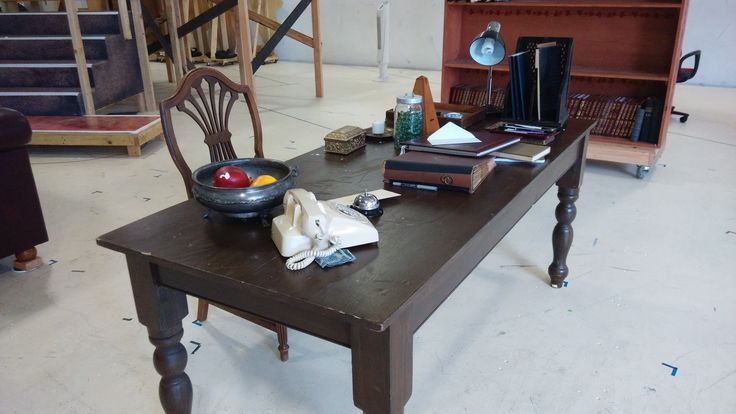 A shot from the Pygmalion rehearsal set. Scenic design by Annie Smart.