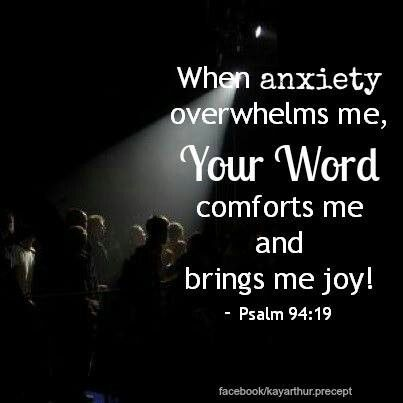 Psalm 94:19--when anxieties and doubt swamp you, immerse yourself in God's affirming presence and his soothing word. More at http://ibibleverses.com