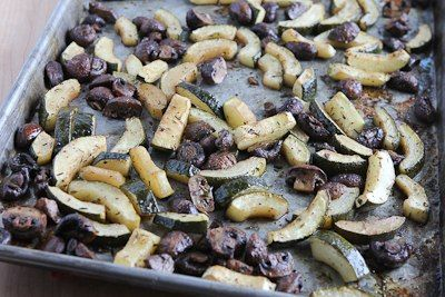 ... Kitchen®: Roasted Balsamic Zucchini and Mushrooms with Feta and Thyme