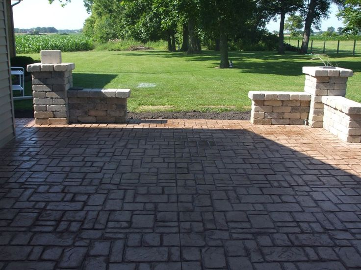 ashler slate stamped concrete - Stamped Concrete Design Ideas
