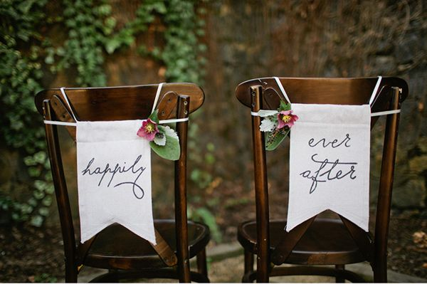 Happily ever after chair swag