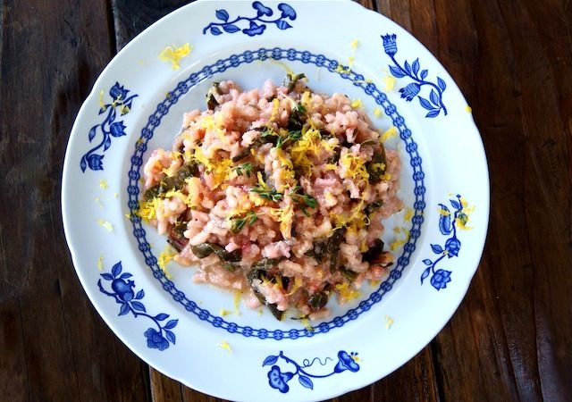 Meyer Lemon-Red Chard Risotto with Pancetta | Cooking On The Weekends ...