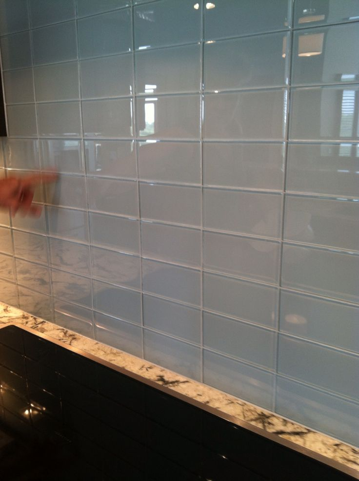glass subway tile backsplash home pinterest