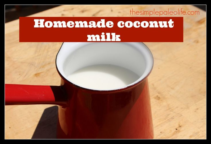 Homemade coconut milk . . . now this can come in handy. :)