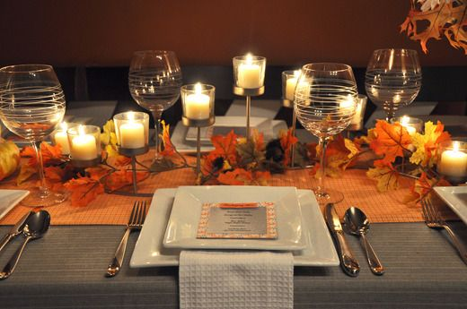 Thanksgiving Table and Menu
