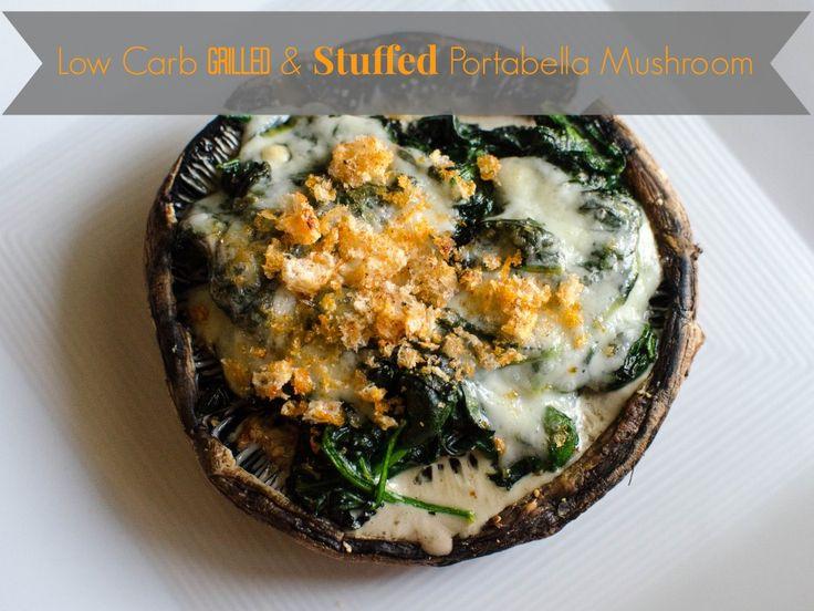 Grilled Portabella Mushroom Stuffed with Creamed Spinach Keto | Recipe