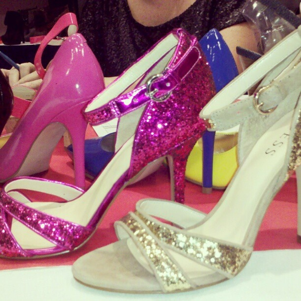 Coming Soon from GUESS - Glitter Strappy Sandals