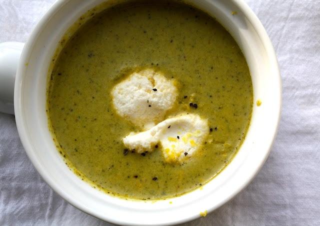Broccoli Soup with Lemon and Ricotta | Laissez les bon temps rouler ...