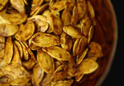 Toasted Pumpkin Seeds with Worcestershire sauce