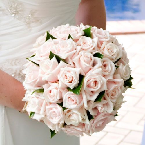 PALE PINK ROSES BRIDAL BOUQUET Online Rose Wedding Flower Package
