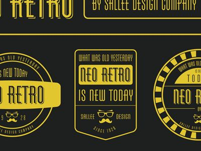 Dribbble - Neo Retro by Jeremy Sallée ✦✦✦