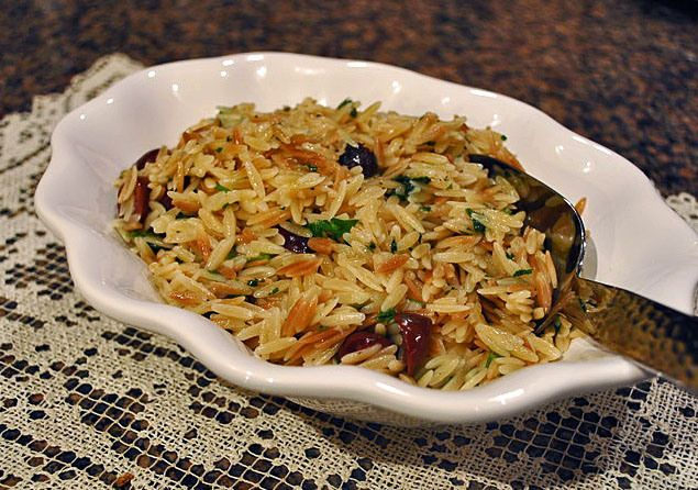 Toasted Orzo with Olives and Lemon ~ Yummers