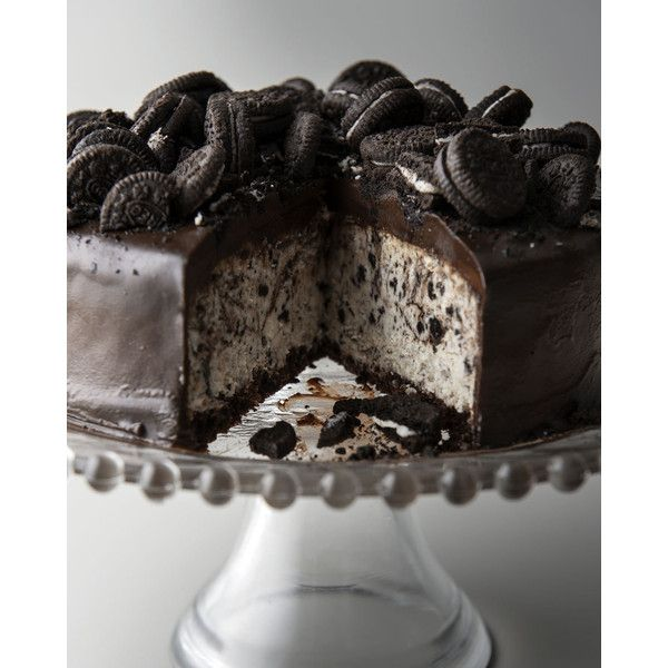 Cookies & Cream Cheesecake ($60) liked on Polyvore